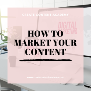 How to market your content